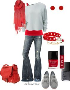 Crimson & Grey! I ♥ This OHIO STATE BUCKEYE OUTFIT! Great for OHIO STATE FOOTBALL PARTIES, TAULGATING OR AN OHIO STATE FOOTBALL GAME!!