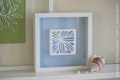 A Little Hut - Patricia Zapata: from paper quilt to framed artwork  NOTE Use as inspir.