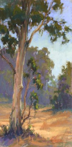 Dance of the Eucalyptus, pastel, 16 x 8. kim-Lordier