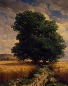 Landscape with Oak - Alexandre Calame    1859
