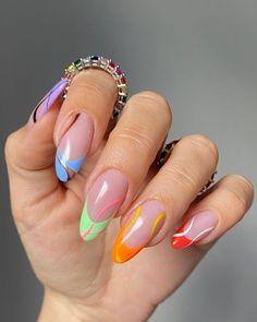 Edgy Nails, Chic Nails, Funky Nails, Stylish Nails, Swag Nails, Funky Nail Art, Colorful Nail Art, Nail Design Stiletto, Nail Design Glitter