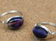 These magnificent Moonlit Purple Wire Wrapped Rings should be your next wire wrapping jewelry project. As wire wrapping tutorials go, this one shows you how to make a ring with clear, easy-to-follow instructions and a video tutorial.