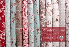 Kate & Birdie's Designer Select Bundle, featuring Winter's Lane.  Giveaway on the Jolly Jabber