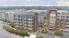 Here Now, An Official Glimpse At Howell Mill Apartments // Crescent Howell Mill Apartment Projects, Apartment Design, Atlanta Midtown, Mixed Use Development, Here And Now, Paris Skyline, Gazebo, The Unit, Design Ideas