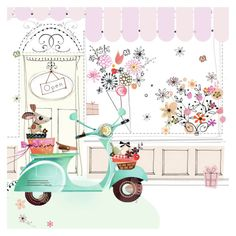jade vespa florist shop.jpg | Lynn Horrabin | Representing leading artists who produce children's and decorative work to commission or license. | Advocate-Art
