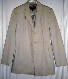"""Express Stylish Tan Jacket Fits up to 36""""Bust Size 7/8 Free Shipping Price:US $15.99"""