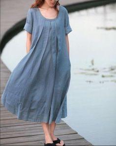 Blue skirts women skirt fashon skirts Long Skirts by Kurta Designs, Linen Dresses, Cotton Dresses, Chifon Dress, Mode Hijab, Blue Skirts, Long Skirts, Dress Patterns, Designer Dresses