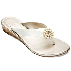 Lindsay Phillips Switchflops Gwen White Low Wedge