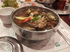 Korean rip soup(?) Deliciousss~~~ but.. too expensive :-(