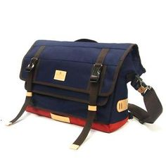 MAKAVELIC - Double Belt Messenger Bag. Made in Japan