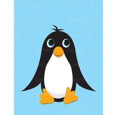 INSTANT DOWNLOAD | Cute Penguin Illustration | Nursery Art | Shanna Riehl Art Shoppe | $3.50