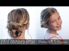How To: Easy Braided Updo | Pretty Hair is Fun - YouTubeBraid Hairstyles, Braids, braids tutorial, braids for short hair, braids for short hair tutorial, braids for long hair, braids for long hair tutorials...