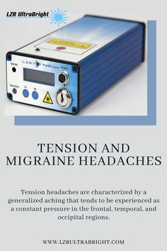 Tension headaches are characterized by a generalized aching that tends to be experienced as a constant pressure in the frontal, temporal, and occipital regions. Migraines often have a prodrome and are very severe compared to tension headaches. Many patients state that stress, eyestrain, $200 off any UltraBright! To get this special price and save $200 you must enter coupon code: GLOW  #lzrultrabright #beautyinbloom #cancertherapy #led #ultrabright Led Therapy, Light Therapy, Tension Headache, Face Light, Face Treatment, Migraine, Glow, Coupon, Stress