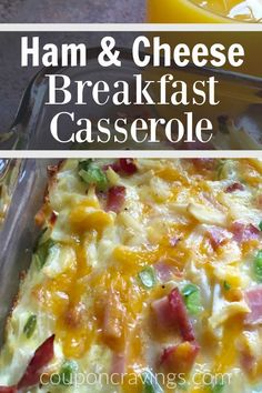 Looking for the best breakfast casserole recipes? This is our favorite! Ham breakfast | Breakfast Casserole Recipes