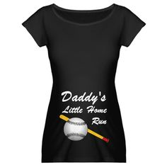 Amazon.com: Dad's Home Run belly image Funny Maternity Dark T-Shirt by CafePress: Clothing