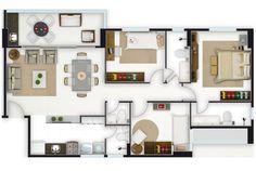 Apartamento antigo com 3 quartos um reversivel 2 banheiros for Casa minimalista 90m2