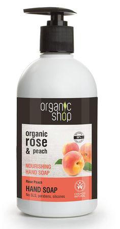 Organic Shop Nourishing Hand Soap Rose Peach Cosmos Natural (BDIH)500ml