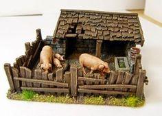 farm Dogs shih tzu puppies for sale Fontanini Nativity, Diy Nativity, Christmas Nativity Scene, Christmas Villages, Miniature Crafts, Miniature Houses, Miniature Dolls, Popsicle Stick Crafts, Craft Stick Crafts