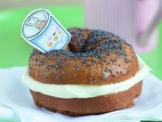Donut & frosting masquerading as bagel & cream cheese