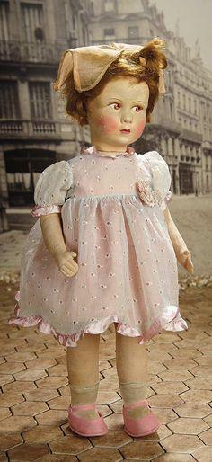 """Fascination"" - Sunday, January 8, 2017: 382 French Felt Studio Doll by Venus in Original Organdy Costume"