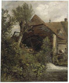A Watermill at Gillingham, Dorset, John Constable, 1823 - 1827
