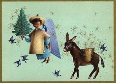 This was my introduction to Rangel Hidalgo.  Vintage Unicef Christmas card.