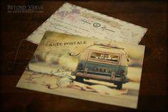 Vintage wedding inviation - Old VW van - Travel theme wedding inspiration - Beyond Verve