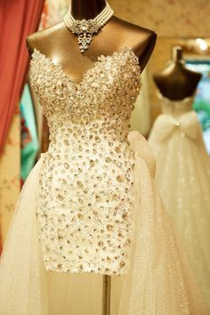 Hand-sewn Crystal Wedding Dress GHH-063 USD459.31, Click photo to Learn how to buy, follow board for more inspiration