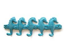 Seahorse Hooks in 21 Colors Cast Iron Key Hook by BeachHouseStyles