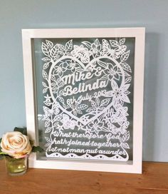 Hey, I found this really awesome Etsy listing at https://www.etsy.com/listing/154178099/handmade-framed-wedding-papercut