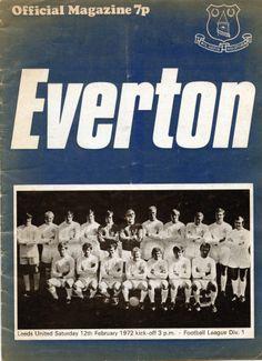 Everton v Leeds United 1971-72 match programme