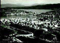 Møre og Romsdal fylke Kristiansund flyfoto Utg Harstad 1950-tallet