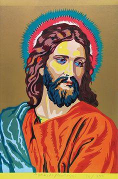 Eduardo Paolozzi (1965) Jesus colour by numbers.