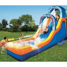 Manley Toys  Banzai Double Drop Falls Inflatable Water Slide