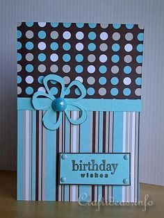 ** Handmade Birthday Card @craftideas