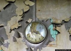 Melted Clock, Cass Technical HS via Haunting Images Of Detroit's Decline
