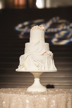 The Knot is an All-In-One Wedding Planner, with the Wedding App. Get all the wedding help you need: a registry, website, inspirations, vendors and more! Three Tier Cake, Wedding Girl, Dream Wedding, Wedding Stuff, Bow Cakes, City Hall Wedding, Wedding Desert, Brides Cake, White Cakes