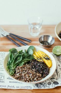 5-spice black bean salad w/ rocket greens + citrus vinaigrette | Dolly and Oatmeal