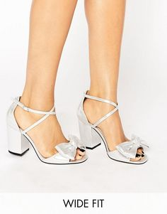 ASOS | ASOS HUNDRED Wide Fit Bow Sandals