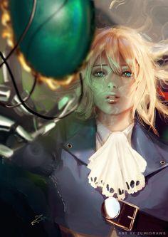 Violet Evergarden by zumidraws on DeviantArt Sad Anime, Manga Anime, Anime Art, Character Inspiration, Character Art, Character Design, Fanart, Violet Evergreen, Violet Evergarden Anime