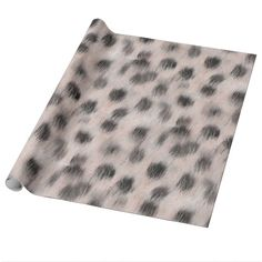Pink Cheetah faux fur Wrapping Paper
