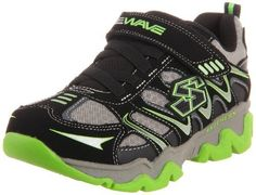 Skechers Kids E-Wave - Heylo Sneaker (Little Kid/Big Kid) Skechers. $18.99. Stretchy faux lace straps. Rubber sole. He'll be raring to go in this fast-paced sneaker. Padded collar and tongue. Leather and synthetic. Adjustable hook and loop closure. Synthetic/mesh upper with wave detailing