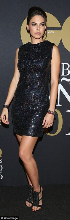 Mexico's biggest names: Actress and model Vanessa Claudio stood out in her red jumpsuit wh...