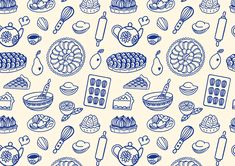 Cartoon Brain, Food Graphic Design, Poster Design Inspiration, Pattern Illustration, Screen Printing, Print Patterns, Tea Time, Poppy, Bakery