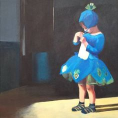 "Saatchi Art Artist Paulina Swietliczko; Painting, ""Peacock Girl"" #art"