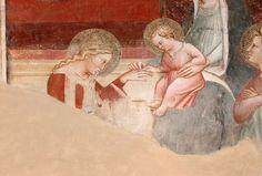 Spinello Aretino - Storie di Santa Caterina d'Alessandria - Matrimonio mistico di Santa Caterina, dettaglio - affresco - 1348-1387 - Oratorio di Santa Caterina delle Ruote - Bagno a Ripoli (Firenze)