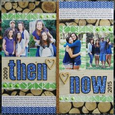 Then And Now scrapbook layout by Laura Vegas for SCTMagazine