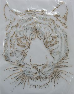 TIGER FACE Motif iron-on ANIMAL RHINESTONE DIAMANTE BLING PARTY TSHIRT TRANSFER | Crafts, Beads, Other Beads | eBay!