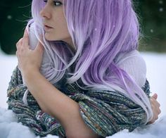 Lilac colored hair