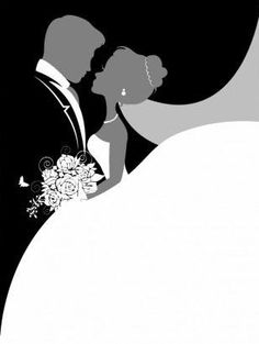 Bride and Groom So In Love Mom- I like this especially for the cover page Wedding Art, Wedding Images, Wedding Gifts, Wedding Silhouette, Free Website Templates, Wedding Anniversary Cards, Wedding Scrapbook, Digital Stamps, Cardmaking